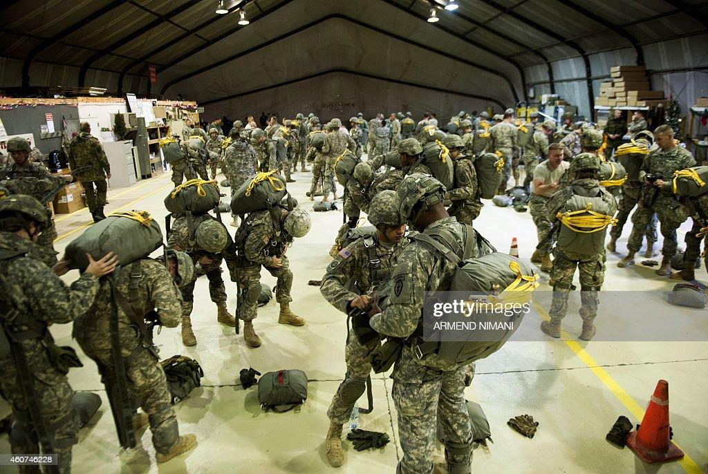 KOSOVO-US-NATO-KFOR-EXERCISE : News Photo