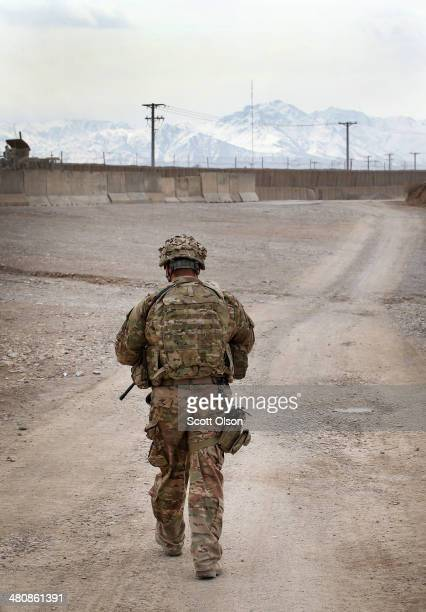 S Army SPC Romik Hazarian escorts US Army advisers with 2nd Battalion 87th Infantry Regiment 3rd Brigade 10th Mountain Division inside Forward...