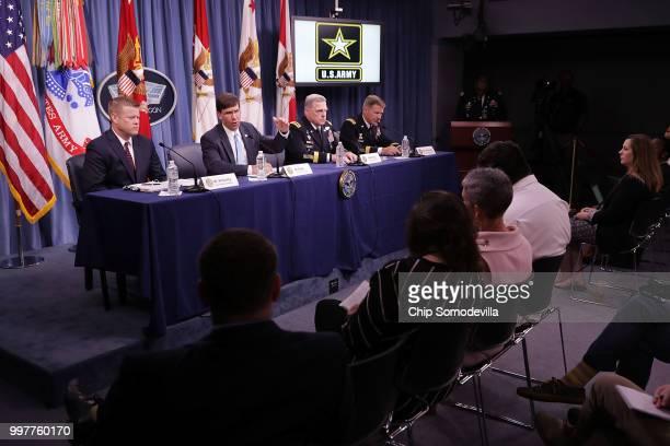 Army Undersecretary Ryan McCarthy US Army Secretary Mark Esper Army Chief of Staff Gen Mark Milley and Army Vice Chief of Staff Gen James McConville...