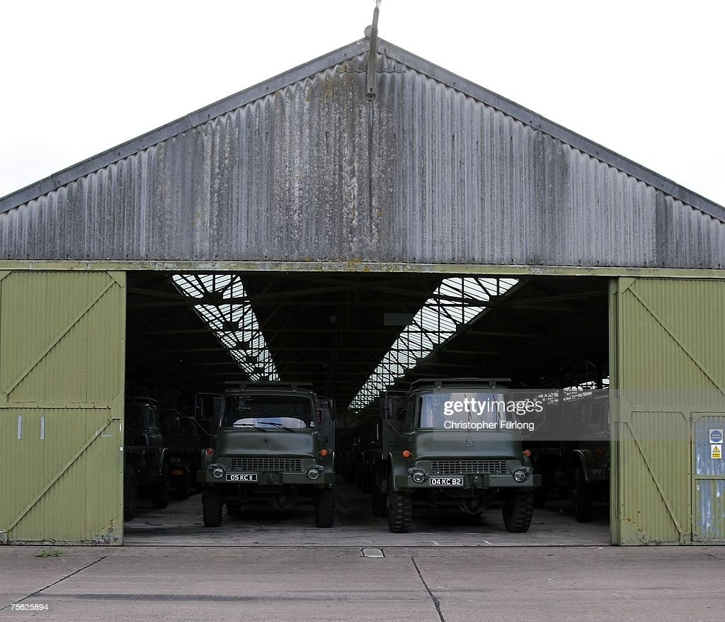 Army Vehicles And Equipment Is Stockpiled At The Defence Storage Distribution Centre Two Miles Outside