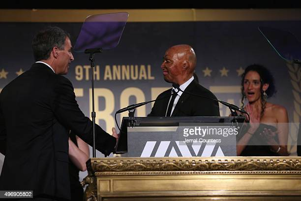 Army Veteran JR Martinez speaks onstage at the 9th Annual IAVA Heroes Gala at the Cipriani 42nd Street on November 12 2015 in New York City