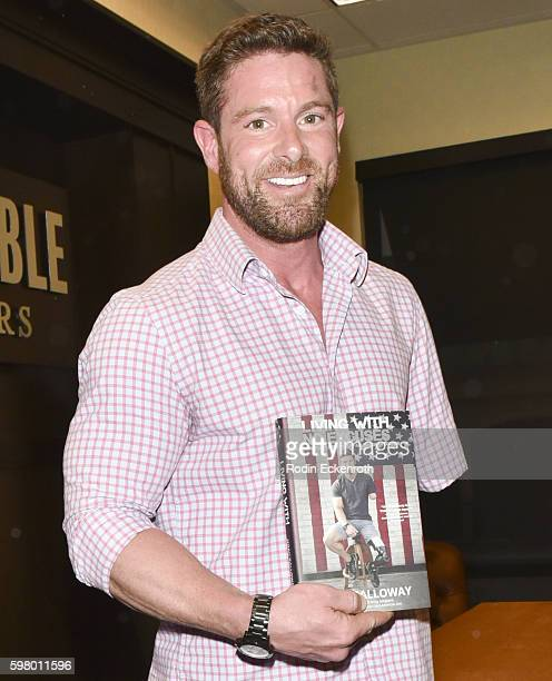 Army veteran Noah Galloway poses for portrait at book signing for Living With No Excuses at Barnes Noble at The Grove on August 30 2016 in Los...