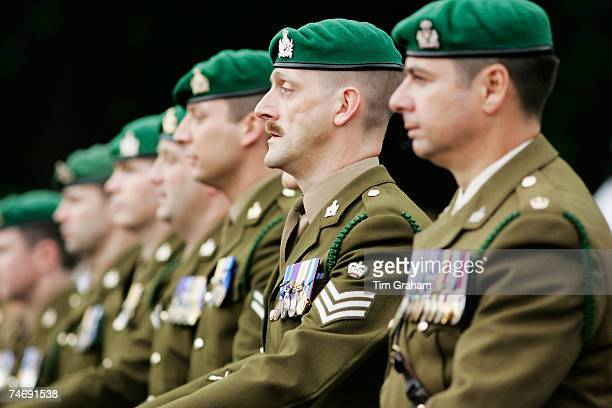 Army veterans march in the Falklands Parade on June 17, 2007 in London, England.Today marks the final day of commemorations taking place in the...