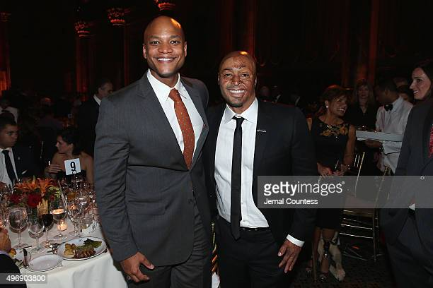 US Army Veterans Wes Moore and JR Martinez attend the 9th Annual IAVA Heroes Gala at the Cipriani 42nd Street on November 12 2015 in New York City