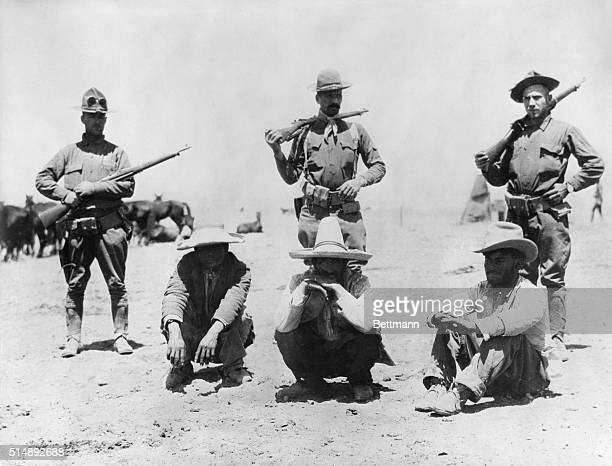 US ArmyMexican border campaign 1915 Raiders from Pancho Villa's band who invaded Columbus New Mexico captured by US Militia troops