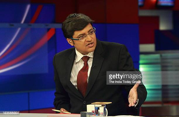 Arnab Goswami Indian Journalist Editor in Chief and News anchor of the news channel Times Now at his office in Mumbai