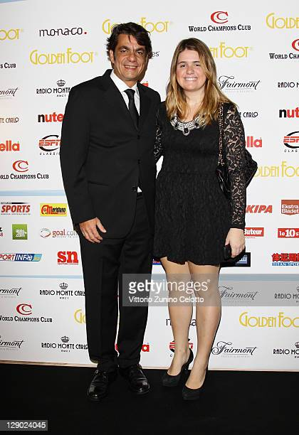 Arnaldo Cardoso Pires and daughter attend the Golden Foot Ceremony Awards on October 10 2011 in Monaco Monaco