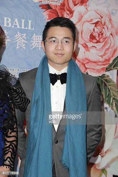 Arnaldo Ho Yau Heng son of Hong Kong magnate Stanley Ho attends Po Leung Kuk Annual Charity Ball on February 27 2016 in Hong Kong China