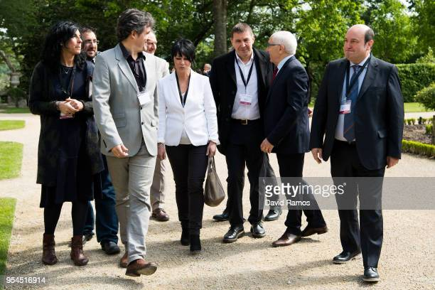 Arnaldo Otegi Leader of the political party EH Bildu arrives at the International event to advance in the resolution of the conflict in the Basque...