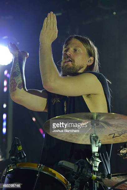 Arnar Rosenkranz Hilmarsson performs at the Of Monsters and Men benefit concert for MusiCares at the El Rey Theater on Sunday, October 18 in Los...