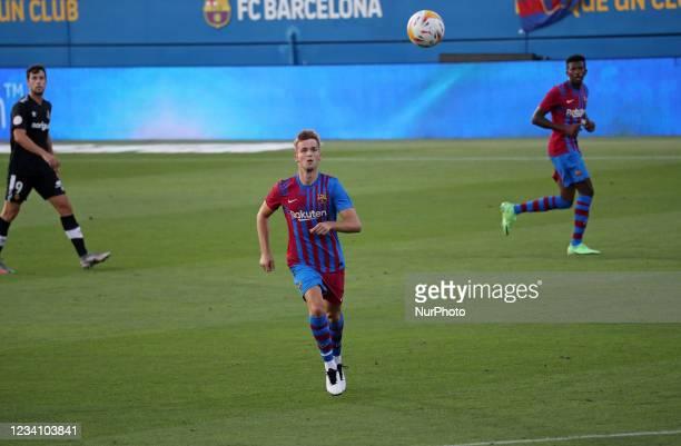 Arnau Comas during the friendly match between FC Barcelona and Club Gimnastic de Tarragona, played at the Johan Cruyff Stadium on 21th July 2021, in...
