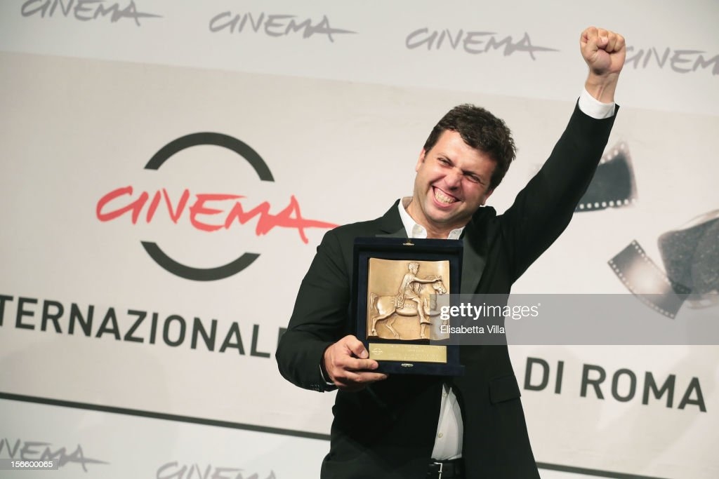 Arnau Valls Colomer poses with his Best Technical Contribution Award during the Award Winners Photocall during the 7th Rome Film Festival at Auditorium Parco Della Musica on November 17, 2012 in Rome, Italy.