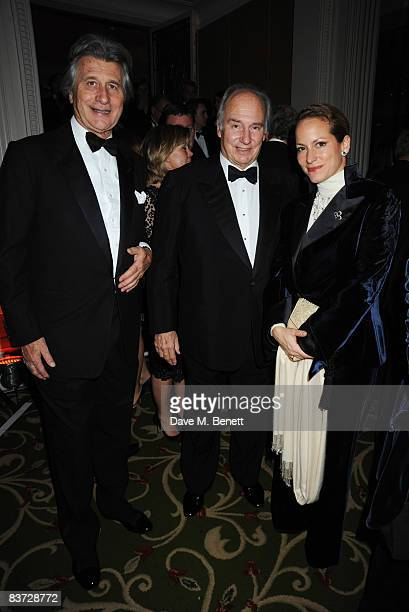Arnaud Bamberger Aga Khan and his daughter Princess Zahra Aga Khan attend the Cartier Racing Awards 2008 at the Grosvenor House Hotel on November 17...