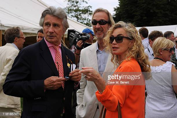 Arnaud Bamberger Mike Rutherford and Angie Rutherford attend the Cartier Style Luxury Lunch during the Goodwood Festival of Speed at Goodwood on July...