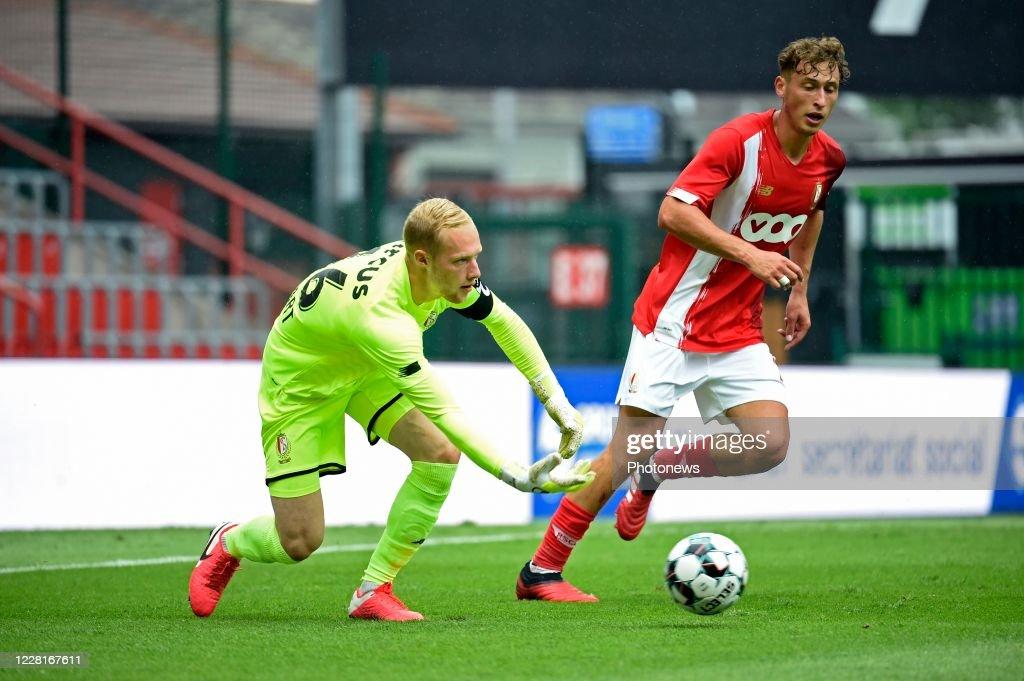 Arnaud Bodart Goalkeeper Of Standard Liege And Mergim Vojvoda News Photo Getty Images