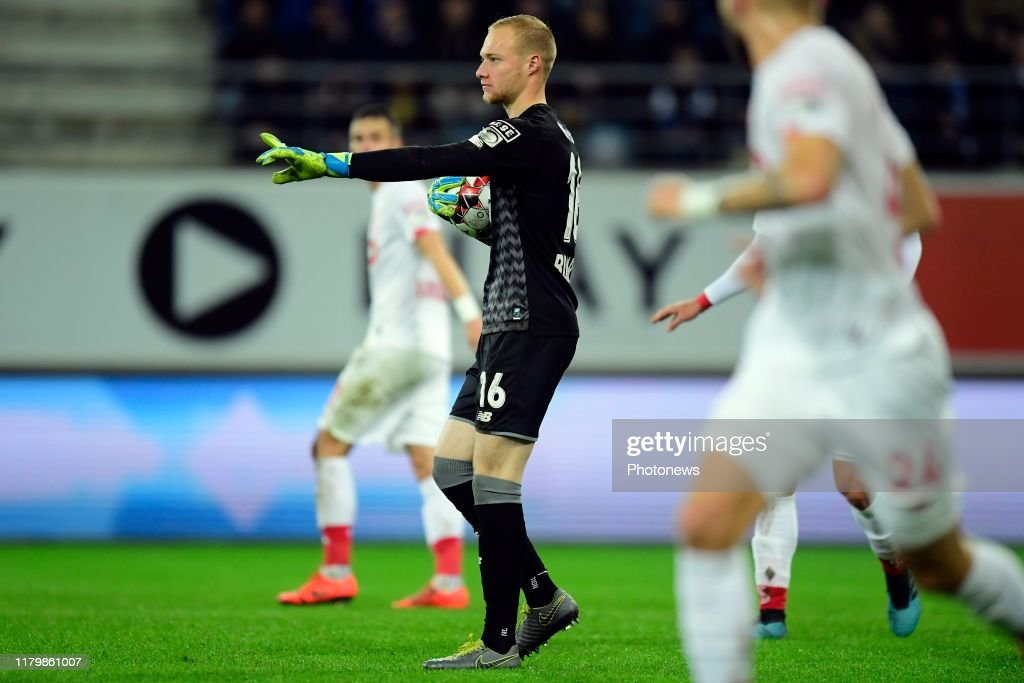 Arnaud Bodart Goalkeeper Of Standard Liege Issues Instructions During News Photo Getty Images