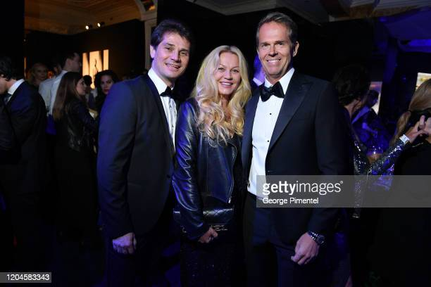 Arnaud Boetsch Annette Hjort Olsen and Stefan Edberg and guests attend 2020 Hollywood For The Global Ocean Gala Honoring HSH Prince Albert II Of...