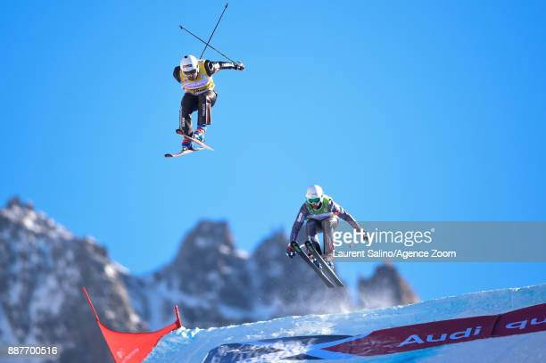 Arnaud Bovolenta of France takes 2nd place, Terence Tchiknavorian of France takes 2nd place during the FIS Freestyle Ski World Cup, Men's and Women's...