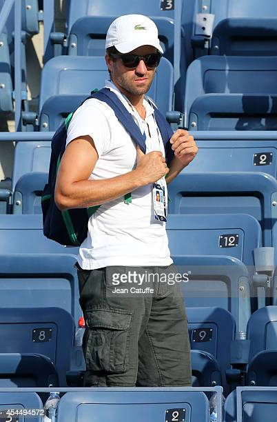 Arnaud Clement Davis Cup captain of France attends Day 8 of the 2014 US Open at USTA Billie Jean King National Tennis Center on September 1 2014 in...