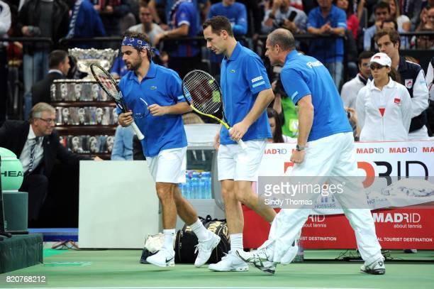 Arnaud Clement / Michael Llodra / Guy Forget - - Double - France / Serbie - Finale Coupe Davis 2010 - Belgrade - Serbie,