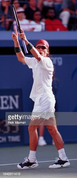 Arnaud Clement of France during his match against Andre Agassi Clement defeated Agassi 63 62 64