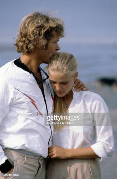 Arnaud de Rosnay et son épouse Jenna circa 1980