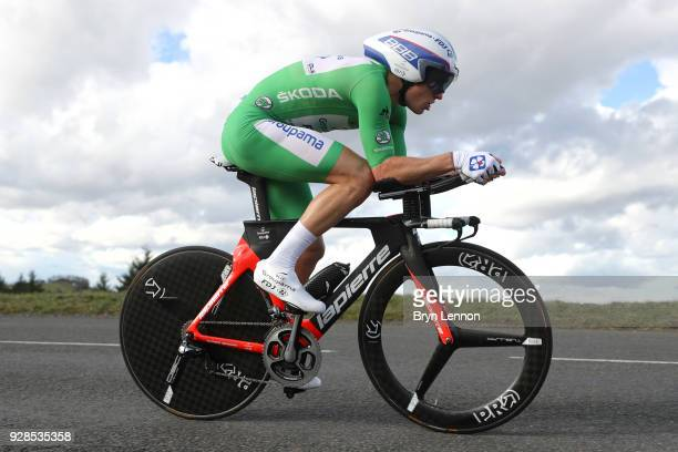 Arnaud Demare of France and GroupamaFDJ Green Points Jersey rider during the 76th Paris Nice 2018 / Stage 4 an Individual Time Trial of 184km from La...