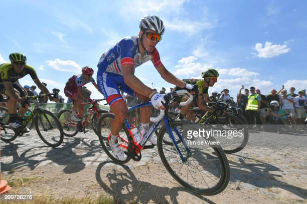 Arnaud Demare of France and Team Groupama FDJ / Adam Yates of Great Britain and Team MitcheltonScott / during the 105th Tour de France 2018 Stage 9 a...