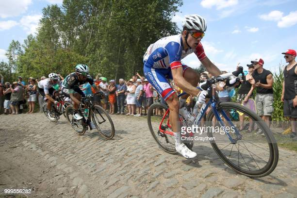 Arnaud Demare of France and Team Groupama FDJ / ont Thibault a Ennevelin Cobbles Sector 1 / Pave / during the 105th Tour de France 2018 Stage 9 a...