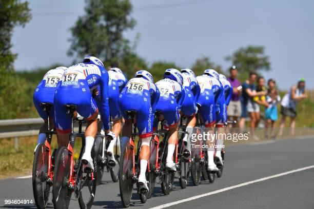 Arnaud Demare of France / David Gaudu of France / Jacopo Guarnieri of Italy / Olivier Le Gac of France / Tobias Ludvigsson of Sweden / Rudy Molard of...