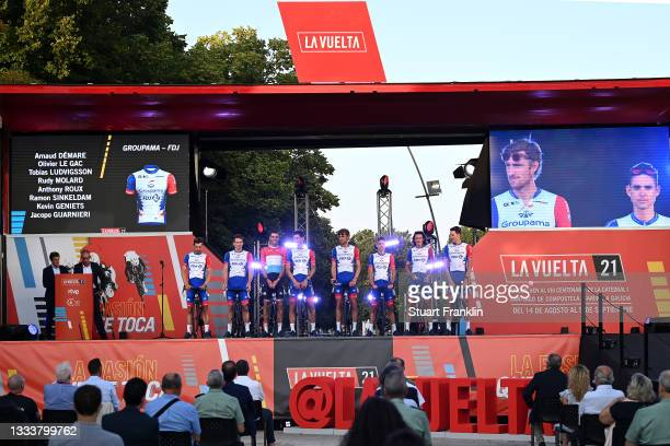 Arnaud Demare of France, Kevin Geniets of Luxembourg, Jacopo Guarnieri of Italy, Olivier Le Gac of France, Tobias Ludvigsson of Sweden, Rudy Molard...