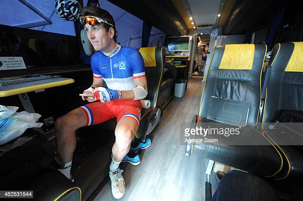 Arnaud Demare of Team FDJFR during Stage 16 of the Tour de France on July 22 2014 in BagneresdeLuchon France