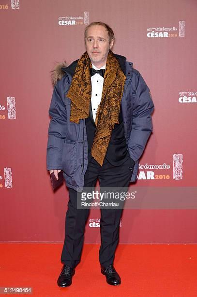Arnaud Desplechin arrives at The Cesar Film Awards 2016 at Theatre du Chatelet on February 26 2016 in Paris France