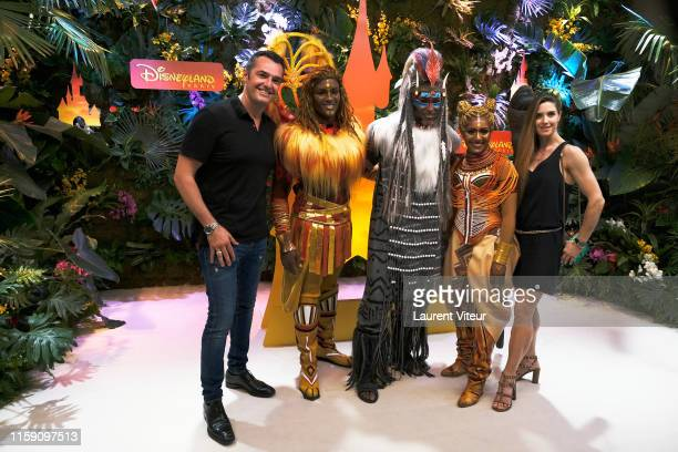 Arnaud Ducret and Claire Francisci attend the Lion King Festival At Disneyland Paris on June 29 2019 in Paris France
