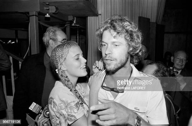 Arnaud et Jenna de Rosnay lors d'une soirée à Paris en septembre 1980 France