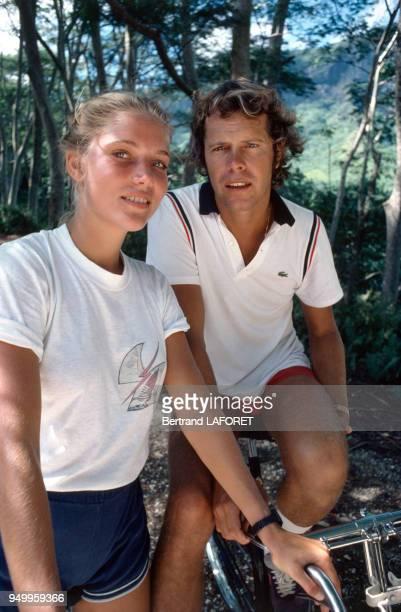 Arnaud et Jenna de Rosnay sur l'île de Moorea circa 1970 Polynésie française