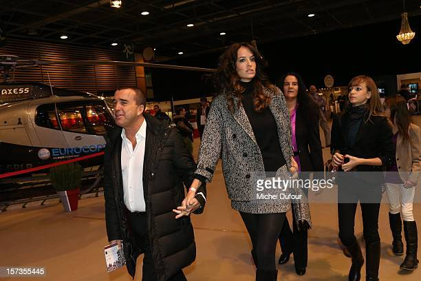 Arnaud Lagardere and Jade Foret attend the Gucci Paris Masters 2012 at Paris Nord Villepinte on December 2, 2012 in Paris, France.