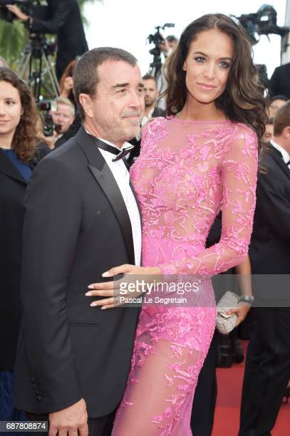 Arnaud Lagardere and Jade Foret attend the The Beguiled screening during the 70th annual Cannes Film Festival at Palais des Festivals on May 24 2017...