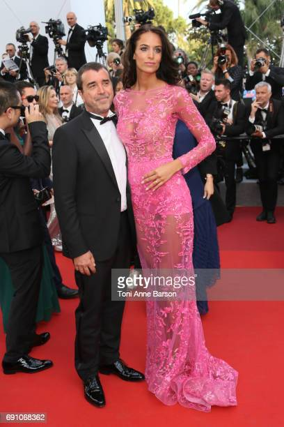 "Arnaud Lagardere and Jade Foret attend the ""The Beguiled"" screening during the 70th annual Cannes Film Festival at Palais des Festivals on May 24,..."