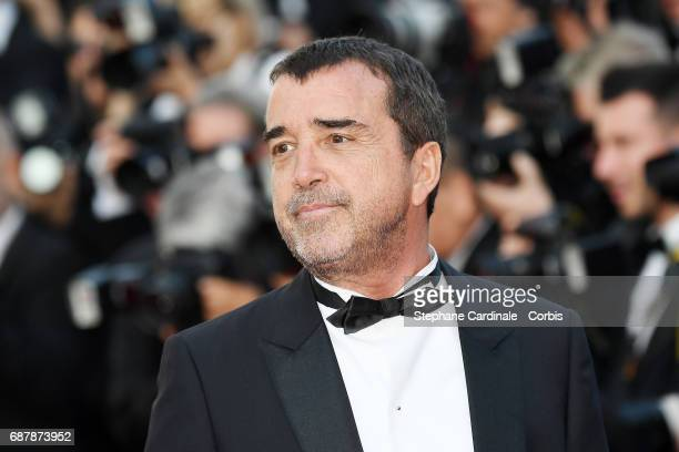 Arnaud Lagardere attends The Beguiled premiere during the 70th annual Cannes Film Festival at Palais des Festivals on May 24 2017 in Cannes France
