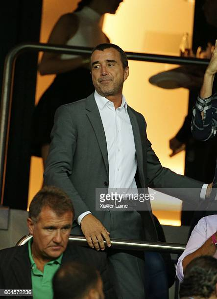 Arnaud Lagardere attends the UEFA Champions League group A between Paris SaintGermain and Arsenal FC at Parc Des Princes on september 13 2016 in...