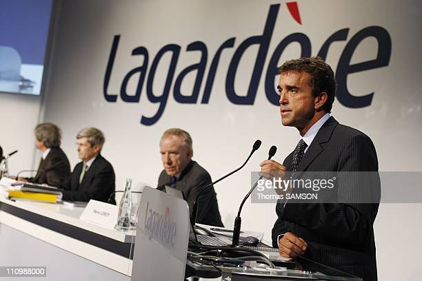 Arnaud Lagardere, General Partner and Chief Executive Officer of Lagardere SCA, Pierre Leroy, Director and Chief Operating Officer of Arco and...