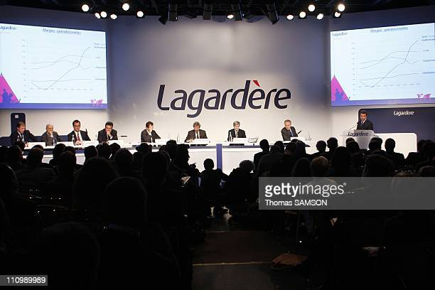 Arnaud Lagardere General Partner and Chief Executive Officer of Lagardere SCA in Paris France on March 12nd 2008