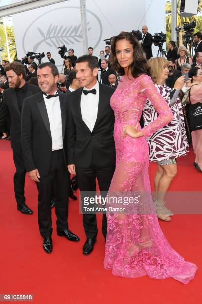 Arnaud Lagardere Jade Foret and David Lisnard attend the 'The Beguiled' screening during the 70th annual Cannes Film Festival at Palais des Festivals...