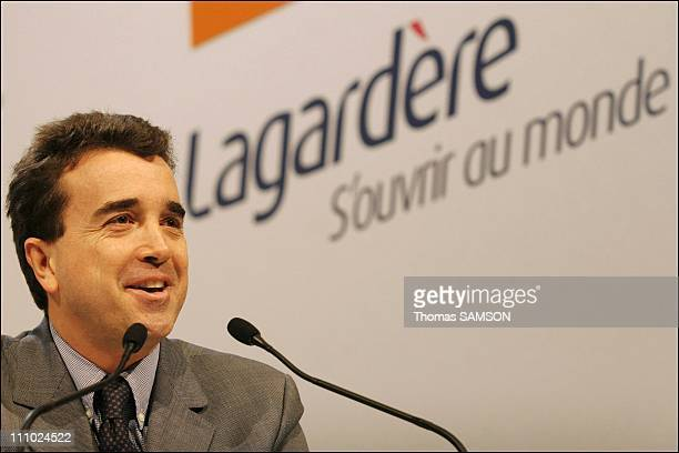 Arnaud Lagardere president of Lagardere group in Paris France on March 08th 2006