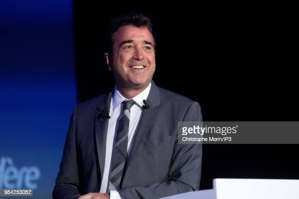Arnaud Lagardere the head of French media group Lagardere attends the group's shareholders meeting on May 3 2018 in Paris France The group confirms...