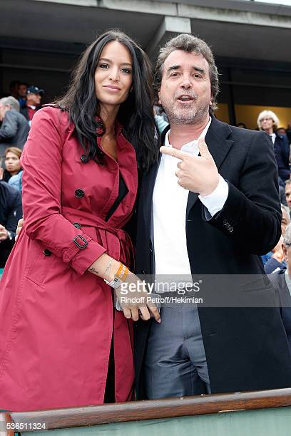 Arnaud Lagardere with his wife Jade attend Day Eleven of the 2016 French Tennis Open at Roland Garros on June 1 2016 in Paris France