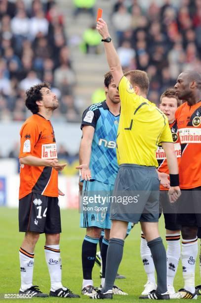 Arnaud LE LAN / Lorik CANA / Olivier THUAL Lorient / Marseille 32 eme journee de Ligue 2 Stade Yves Allainmat Lorient