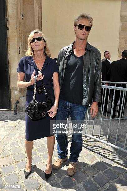 Arnaud Lemaire and Claire Chazal arrive at the Dior show as part of Paris Fashion Week Fall/Winter 2011 at Musee Rodin on July 5 2010 in Paris France