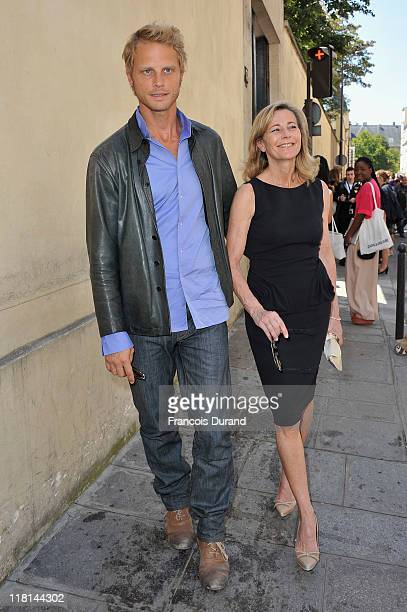 Arnaud Lemaire and Claire Chazal arrive for the Christian Dior Haute Couture Fall/Winter 2011/2012 show as part of Paris Fashion Week on July 4 2011...